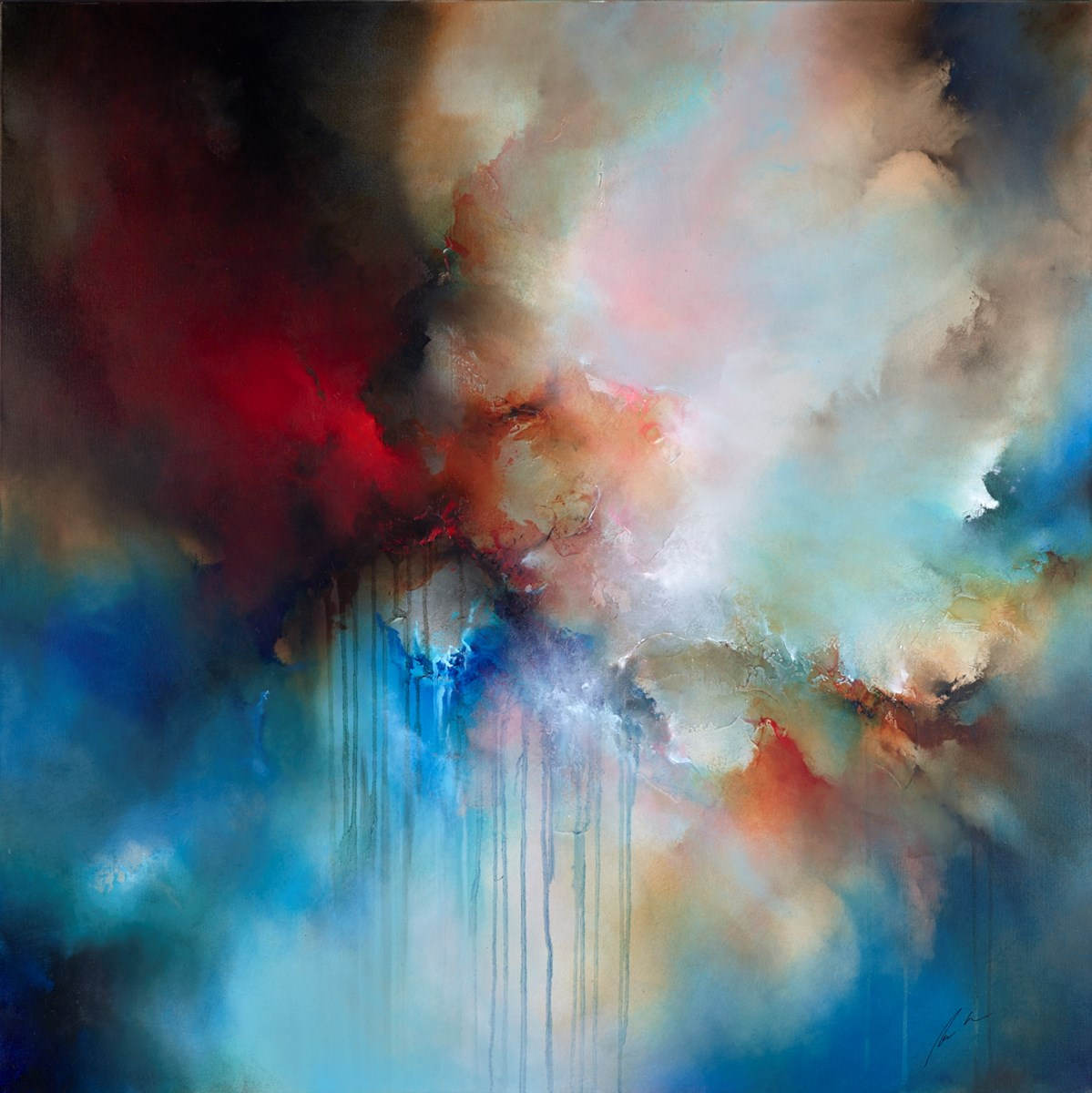 Reach Forth by simon kenny -  sized 48x48 inches. Available from Whitewall Galleries